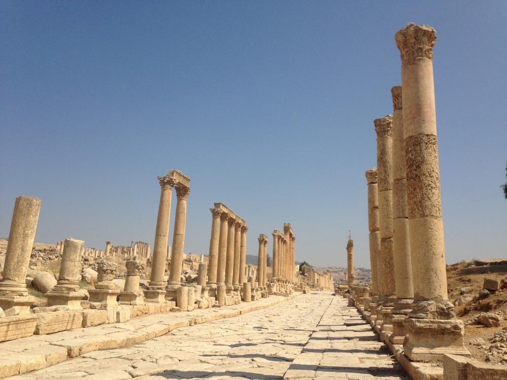Greco-Roman ruins at Jerash