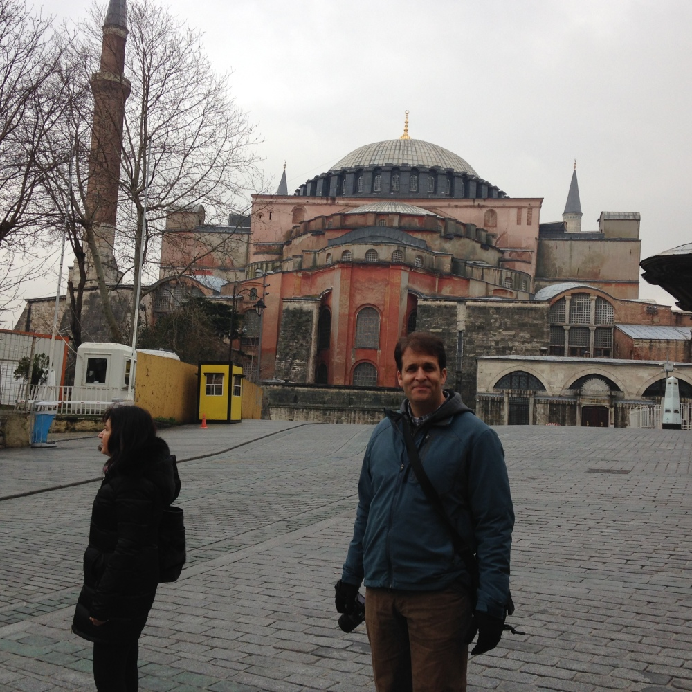Construction began on the Hagia Sophia in 537 A.D.